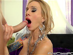 Sarah Jessie slobbers over long knob