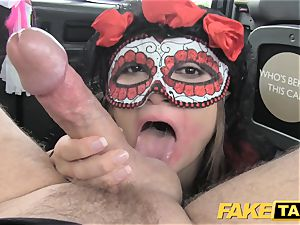 fake cab girl in mask gets banged in the culo