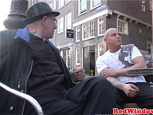 Real dutch prostitute doggystyled in stocking