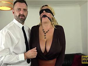 PASCALSSUBSLUTS - Shannon jugs gagged before rough assfuck
