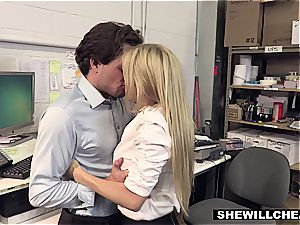 SheWillCheat - huge-titted mummy boss plows new employee