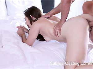 Nubiles audition - hardcore porno audition for new-cummer