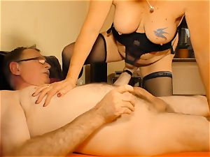 gonzo OMAS - insatiable German granny steaming dt and nail