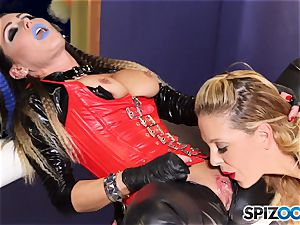 Minge munchers Jessica Jaymes and Cherie Deville get ultra-kinky on this space mission