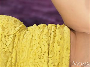 mummy cool curvaceous Russian redhead inhales and nailed