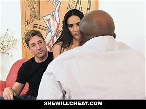 SheWillCheat - red-hot wifey With massive Rack enjoys dark-hued boner