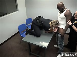 Police woman cab and ash-blonde wild cougar superslut gonzo cougar Cops