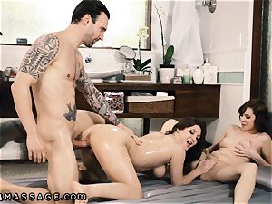 Caught My spouse Showering with masseuse and I Joined