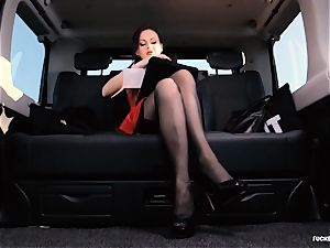 penetrated IN TRAFFIC - brit Tina Kay porked in the car