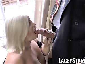 LACEYSTARR - kinkiest grandma analled before jizz flow
