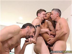 ebony September Reign group sex