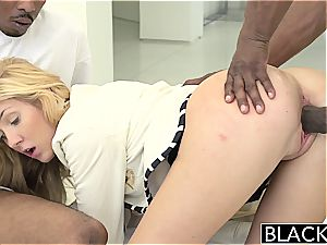 BLACKED two ginormous ebony peckers for Rich white woman