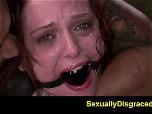 FetishNetwork Emma Evins double penetration restrain bondage fuck-fest and deepthroat