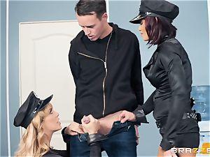 Cherie Deville and Ryder Skye in uniform