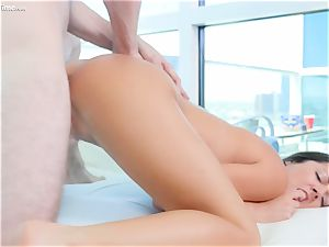 cute labia filled Lily Adams first time lovemaking on camera