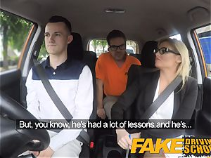 fake Driving school Learners nerves calmed by pounding