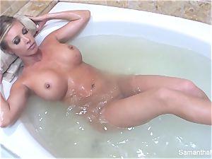 Samantha's voluptuous tub nymph on gal dream