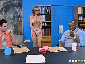Britney Amber getting group boned