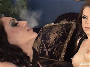 Smoking lesbo joy with Charley and stunner