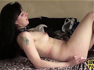 british bondage & discipline slave whipped and slapped