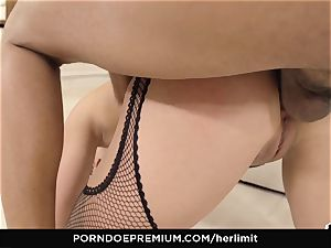 HER limit - black-haired girl takes it firm up the bum