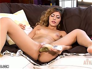 Audrey Royal plays with her coochie