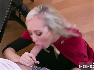 milf catches me jerking off Halloween special With A three way