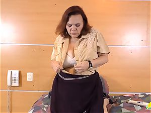 LatinChili warm huge-boobed granny Solos Compilation