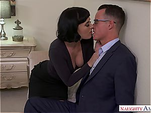 Olive Glass gets her unshaved poon split in half by her friend's hubby