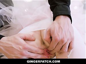 GingerPatch - ginger-haired Ballerina riding Judges hefty stiffy