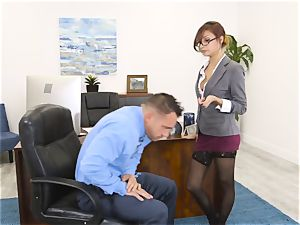 boss Jade Jantzen fellates and pummels a immense dicked worker