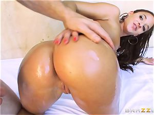 Amirah Adara getting her cock-squeezing little arse pulverized