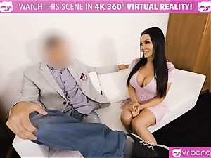 VR porno - Thanksgiving Dinner becomes a ultra-kinky 3some