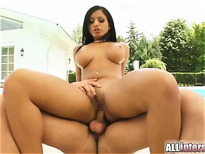 Kyra's taut bum just runs in rivulets with jizz after being boned