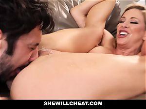 SheWillCheat cheating wifey Gags on lollipop