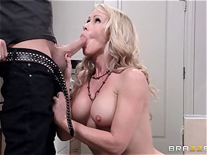 Mean mommy Simone Sonay gets plowed by daughters fellow