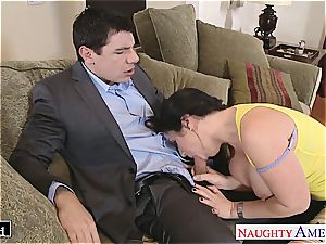 big-boobed Jayden Jaymes ate out and romped stiff