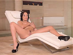 big-titted French mummy thumbs Her wet pussy