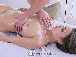 Passion-HD - Dillion Harper humid massage with facial cumshot