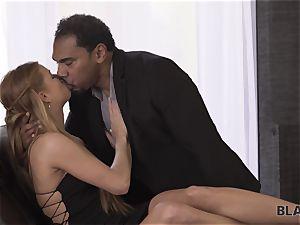 BLACK4K. Chrissy gets cuni and pussy-fucking from ebony boy