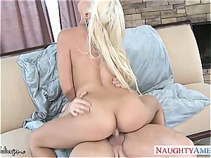 big-chested light-haired babe Bridgette B. take rod